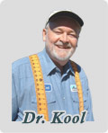 Dr. Kool in tape measure suspenders